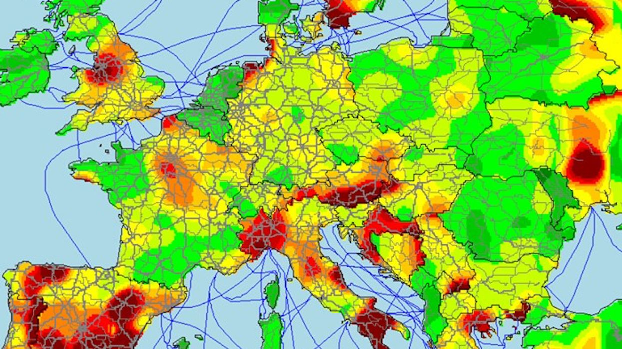 Thumbs up? Map shows Europe's hitchhiking landscape