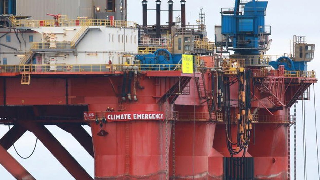Greenpeace Activists Stop BP Rig Bound for North Sea, Stalling Plan to Drill for 30 Million Barrels of Oil