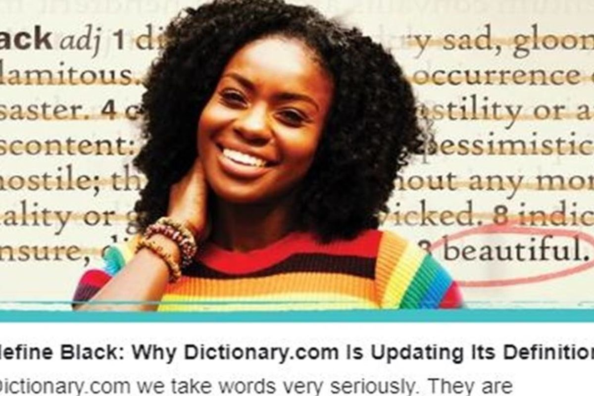 Dictionary.com changing the definition of 'black' after being called racist.