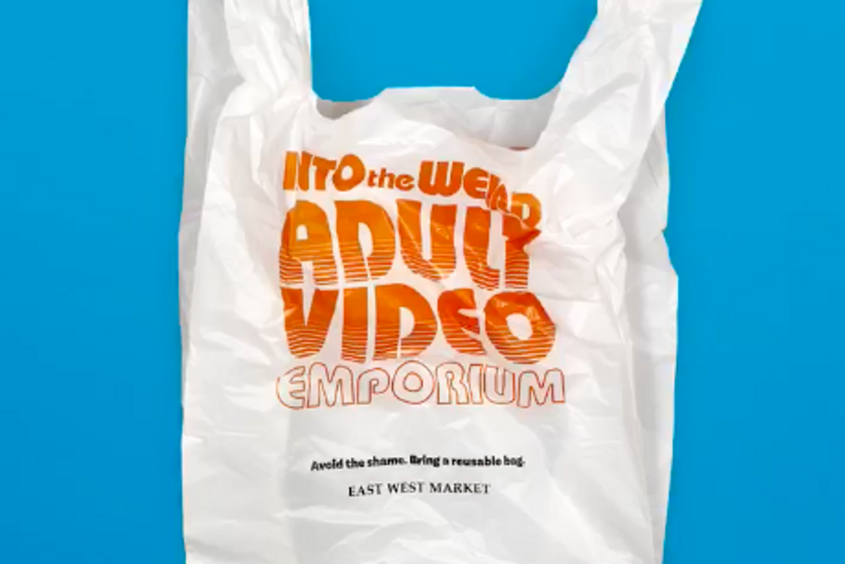 This store's hilarious plastic bag designs will ensure you never forget your reusable tote at home.