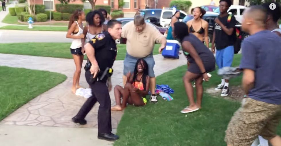 There's just simply no excuse for how this police officer responded to a call about a pool party.
