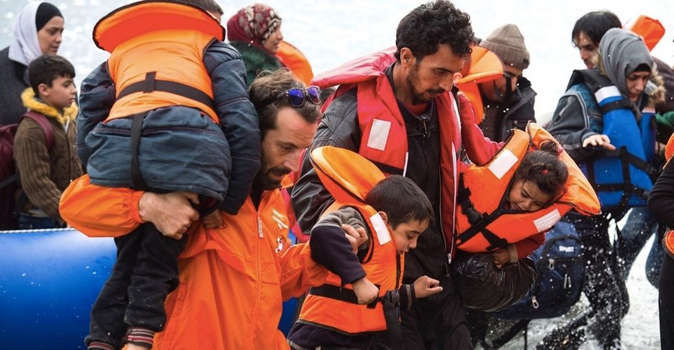Photos: See the dramatic change in these before-and-after images of the refugee crisis.