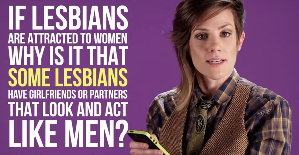 She Let Strangers Ask Her Questions About Lesbians, Then Her Raised-Eyebrow Game Shamed Us All