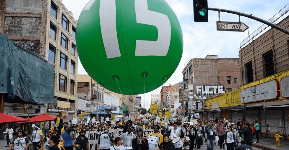 L.A. cares about its workers, raises the minimum wage to $15. It's the largest city to do it so far.