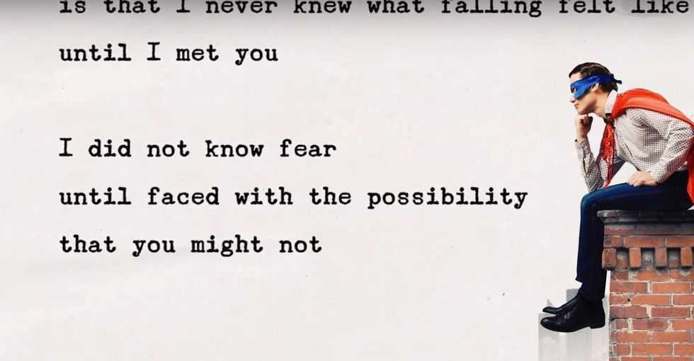 A fake letter from Superman about the very real struggle we all face when we love someone.