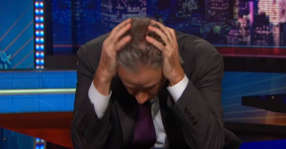 Jon Stewart Tries To Hold It Together About Eric Garner. He Really Tries.
