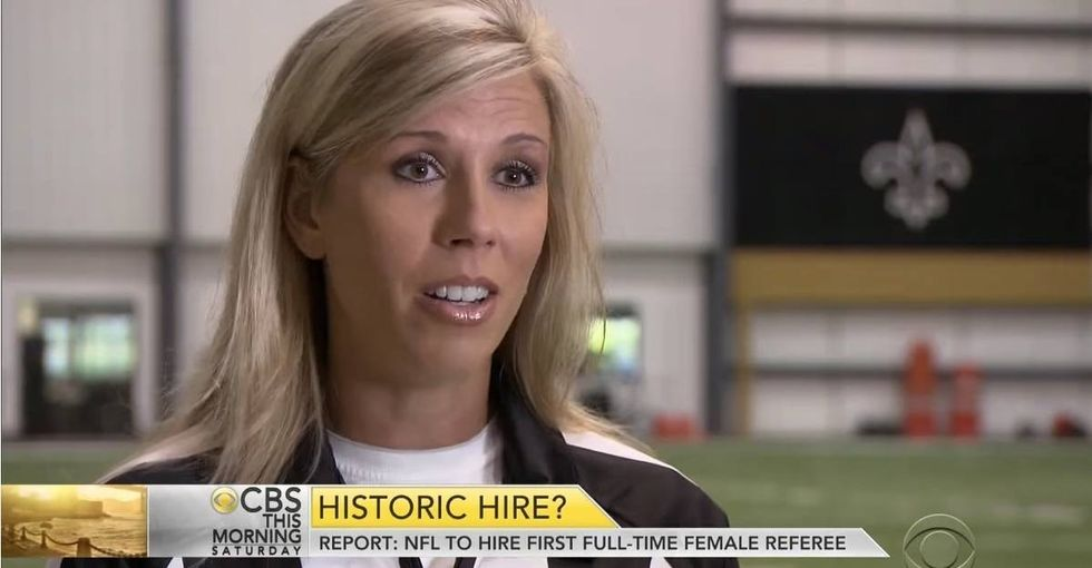 The NFL just hired their first female ref. Here's why that's huge news.