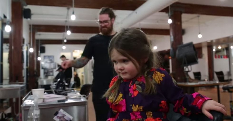 Have Long Hair? I Bet You're Sick Of Strangers Telling You To Do What This Toddler Just Did.