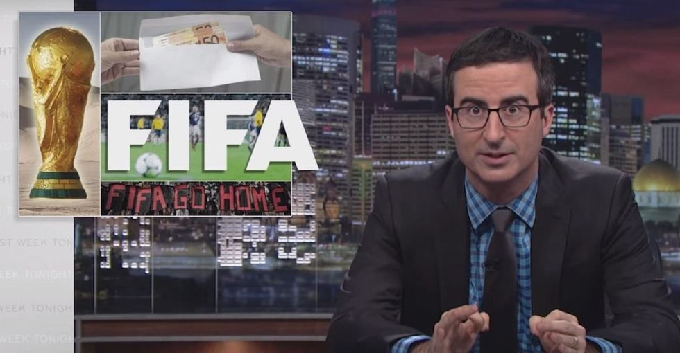 FIFA World Cup gets red-carded by John Oliver for the death, slavery, and bribery things.