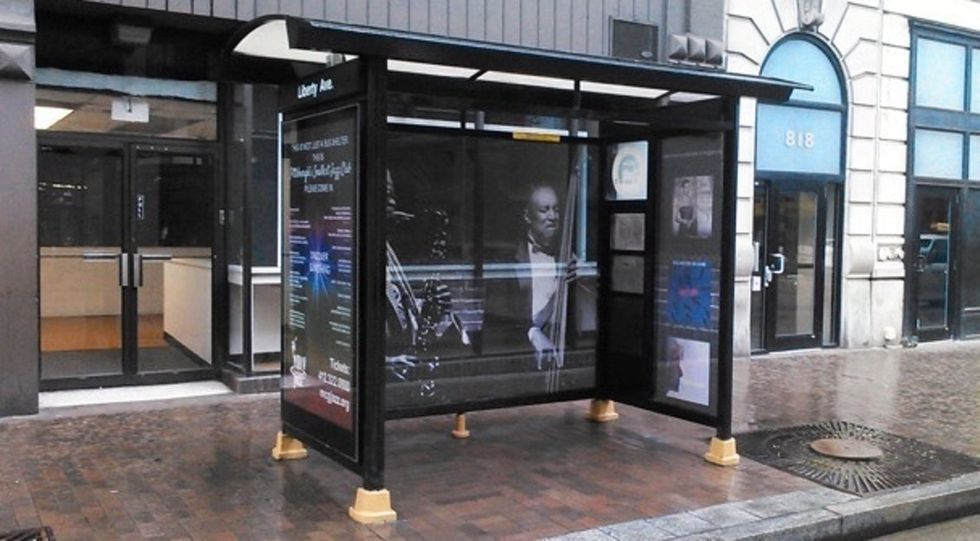 It's not a bus stop, it's Pittsburgh's smallest jazz club. OK, it's both.