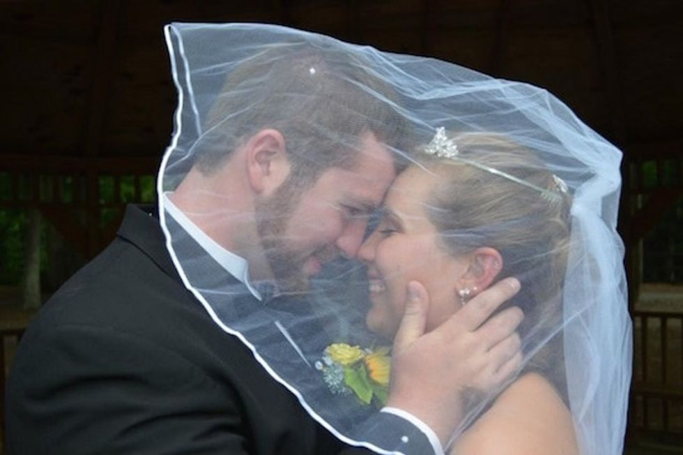 She survived the car crash, but her memories of their wedding didn't. So they're doing it again.