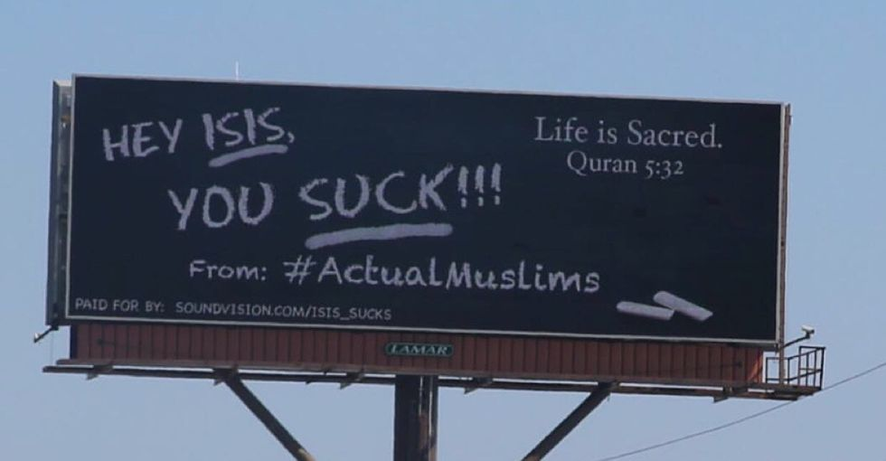 American Muslims bought this billboard to send a loud message to ISIS.