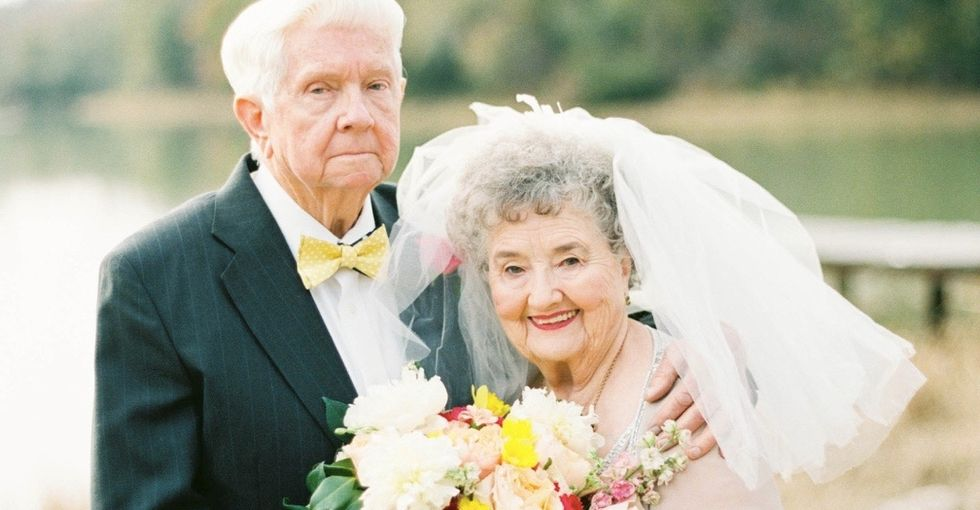 A pair of grandparents recreated popular wedding photos, and it's adorable.
