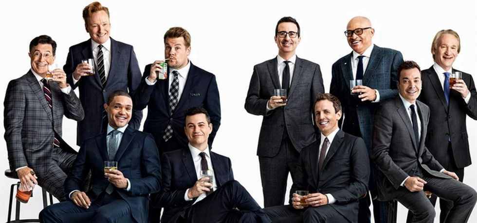 Twitter had a field day with the glaring lack of women in this photo.
