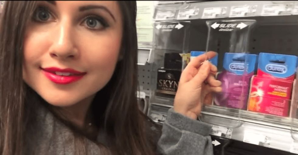 She noticed a huge problem with condoms. There. She fixed it.