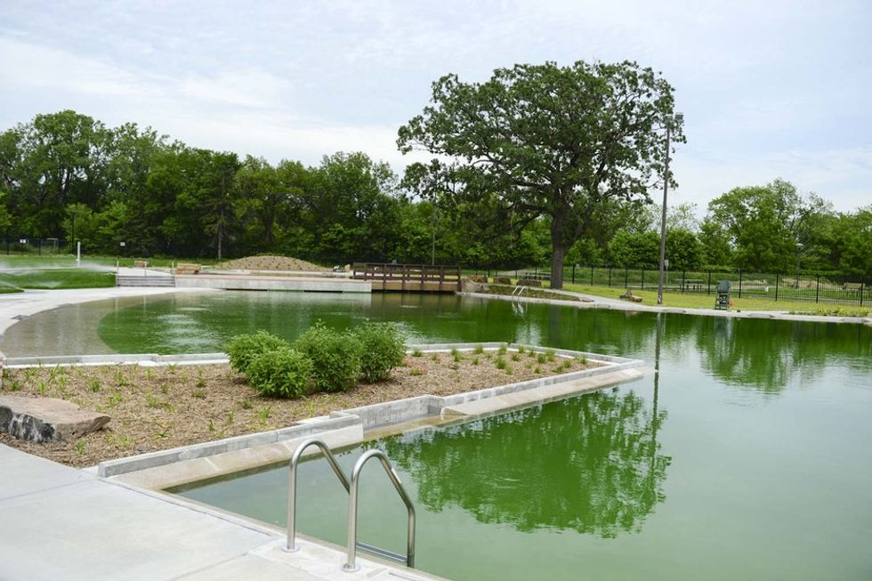 This public pool is completely chlorine-free. It's also the first of its kind in the U.S.