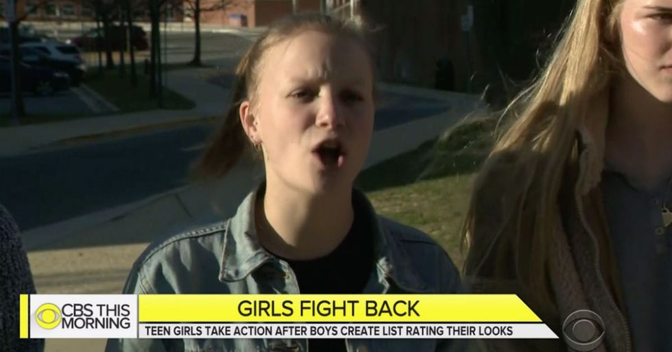 A group of high school girls put a stop to the boys who made a list ranking their appearance.