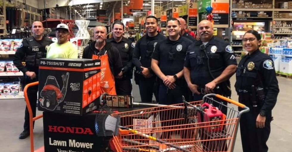 A group of cops pooled their money to help this landscaper after his truck, tools, and rent money were stolen.