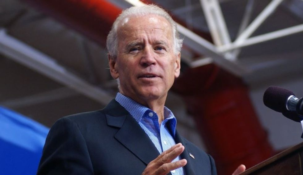 Joe Biden fires back at Trump after the president bashed him with a hypocritical meme.