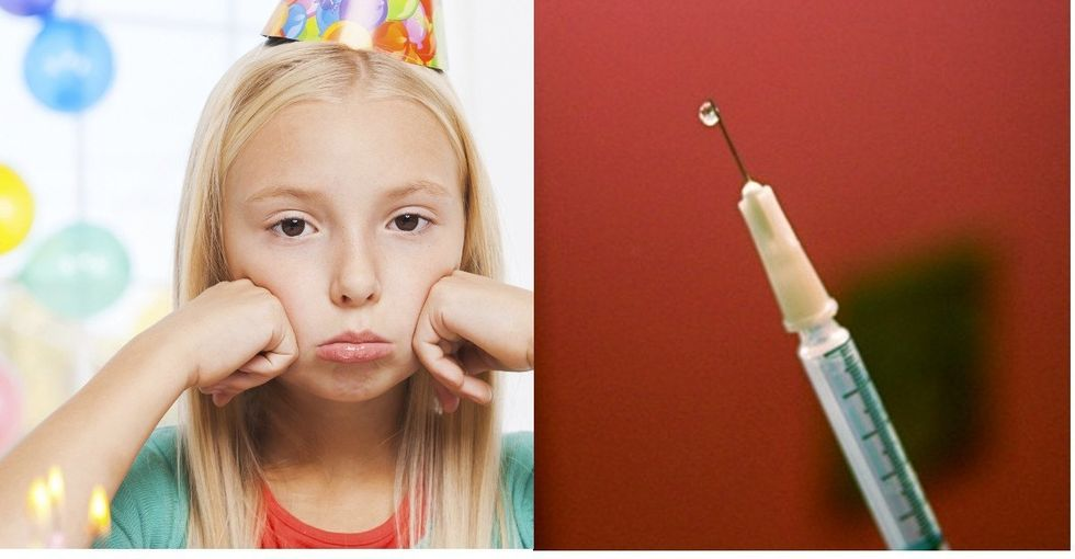 Dad took blood samples at his kid's birthday party. And that's not the worst part.