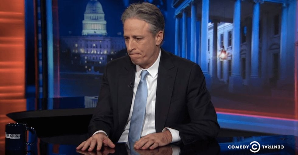 We all knew about Jon Stewart's departure because Innerwebz. But his audience was totally surprised.