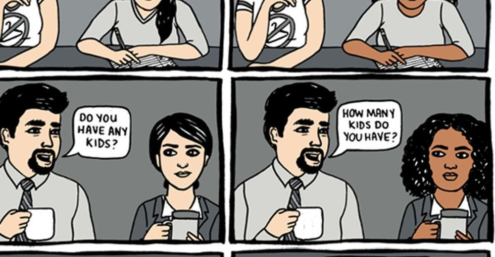 A 10-panel comic explores a subtle kind of racism many people of color experience.
