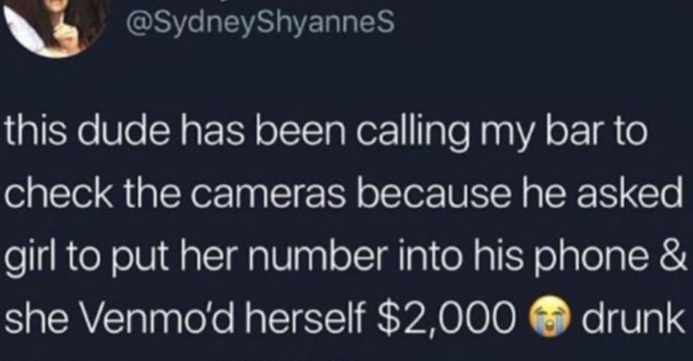 Viral post about a woman who stole money from a man at a bar turns the table on rape culture.