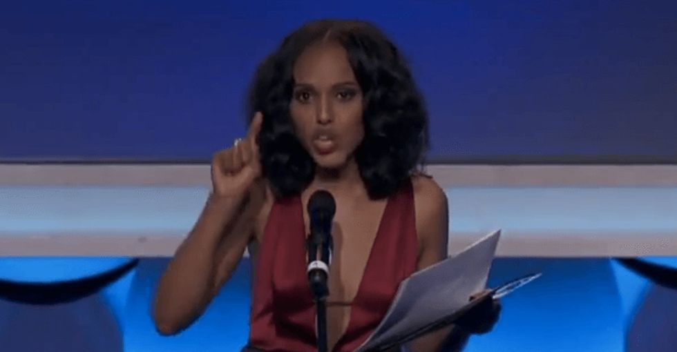 Now that's what I call an *acceptance* speech. Amazing job, Kerry Washington.