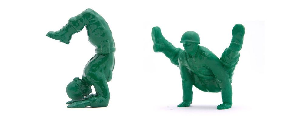 Yoga Joes were designed to get guys into yoga. But it's not just men who love them.