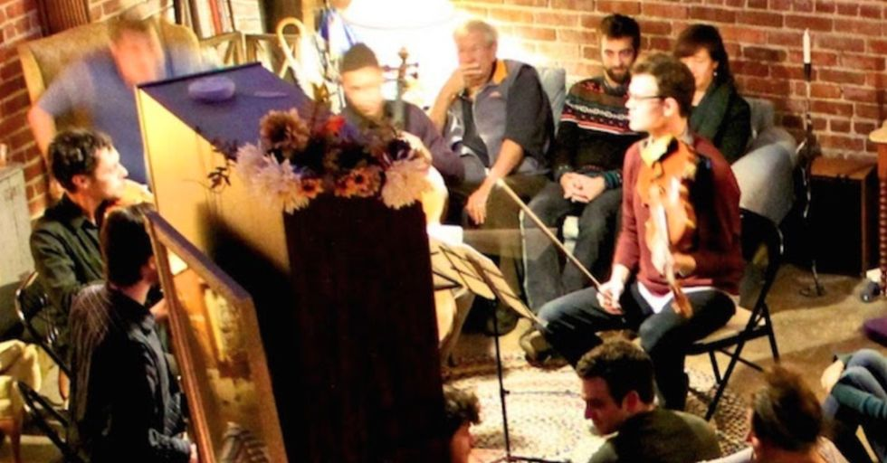 Would you attend a concert in a stranger's living room?