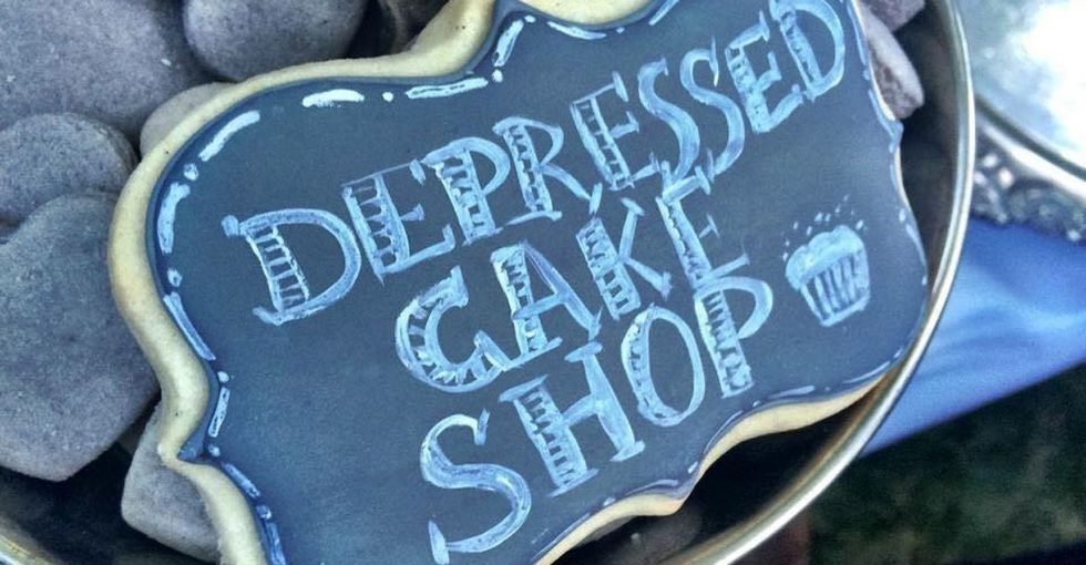 These depressed-looking desserts might mean that depressed-feeling people get the help they need.