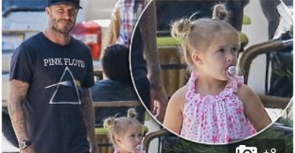 A tabloid tried to publicly shame David Beckham's 4-year-old for her pacifier. He did what you'd do.