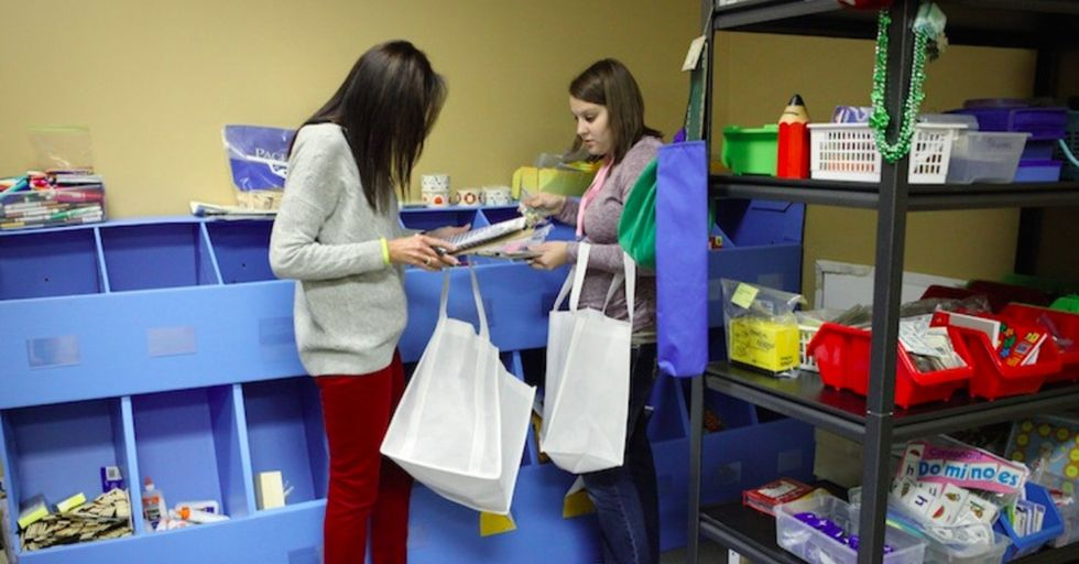How do you keep teachers from having to buy supplies with their own money? Open a free store.