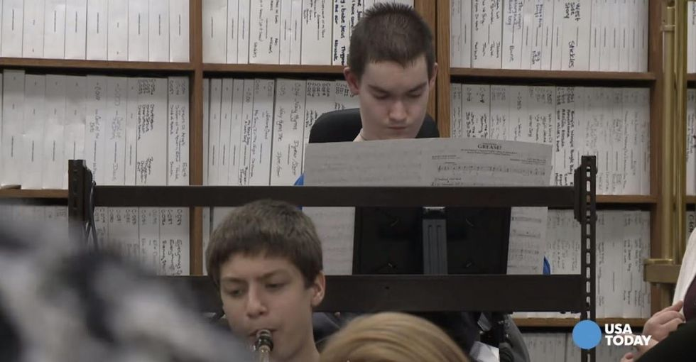 He didn't want to quit band. So his teacher helped figure out a way to keep him playing.