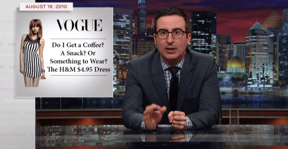 John Oliver digs into the low-cost, child labor hypocrisy in the fashion industry.