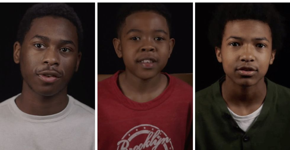 A short documentary takes a look at what it's like to grow up black in America.