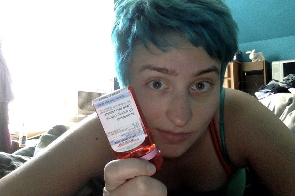 Some people need medication for their mental health. These selfies show that's perfectly OK.