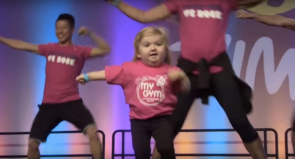Watch this 6-year-old dominate Zumba and promote a good cause while she's at it.