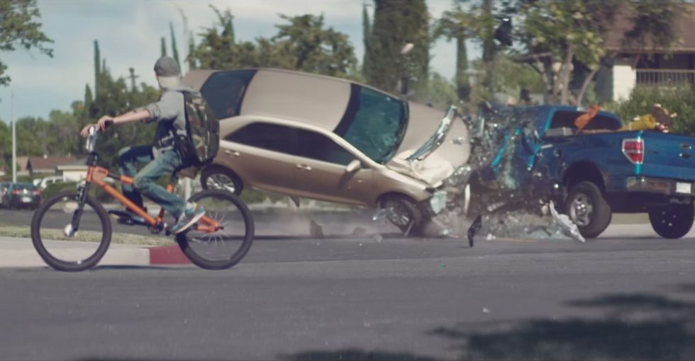 A distracted driving PSA that hits hard: It's more than just not texting behind the wheel.