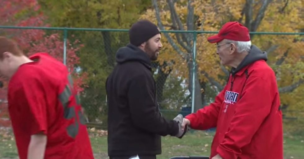 Check out this sweet story about a high school football team's biggest fan: the coach's dad.