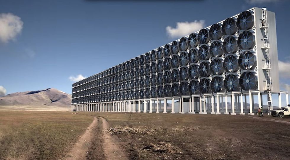 Meet the giant air-sucking wall that might help combat climate change.