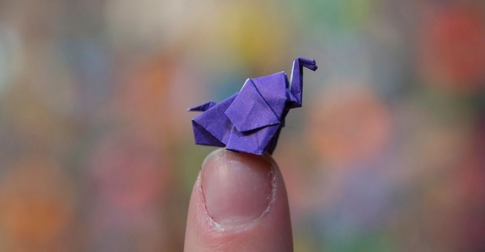 There's a Guinness World Record for origami elephants. The story behind it is delightful.