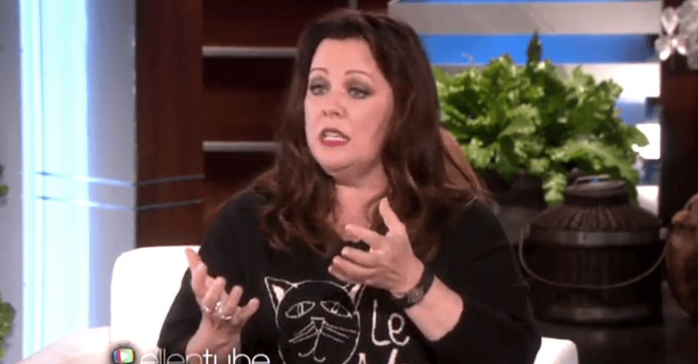 Melissa McCarthy confronted a critic who said actresses should always be pretty in movies.