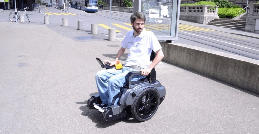 A group of Swiss students just conquered one of the biggest obstacles for wheelchair users: stairs.
