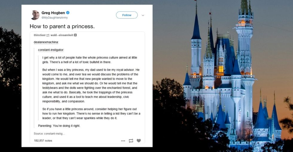 A dad used his daughter's princess phase to teach leadership skills, and it's perfection.