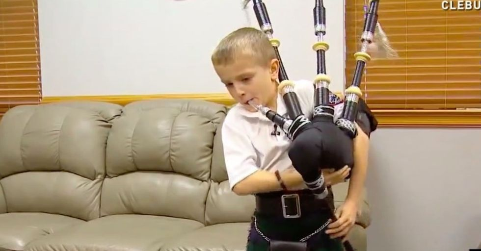 A 7-year-old taught himself to play the bagpipes. Here's what 4 other people learned from YouTube.