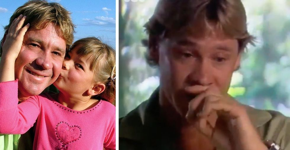 This viral video of Steve Irwin sharing his love of being a father is just too beautiful.