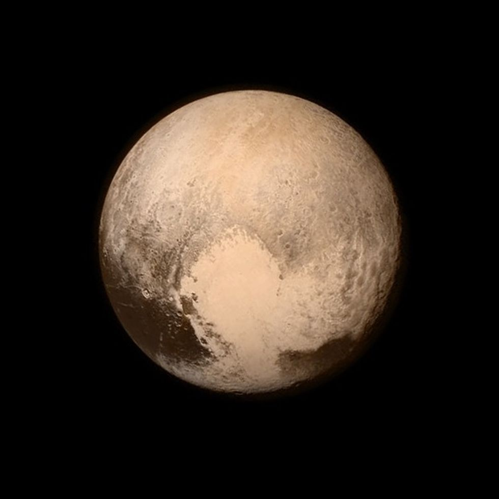 3 billion miles later, the first ever photo of Pluto's surface is here.