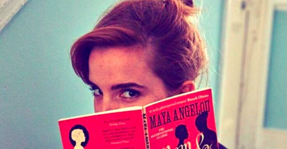 The delightful reason Emma Watson is hiding books on the subway.