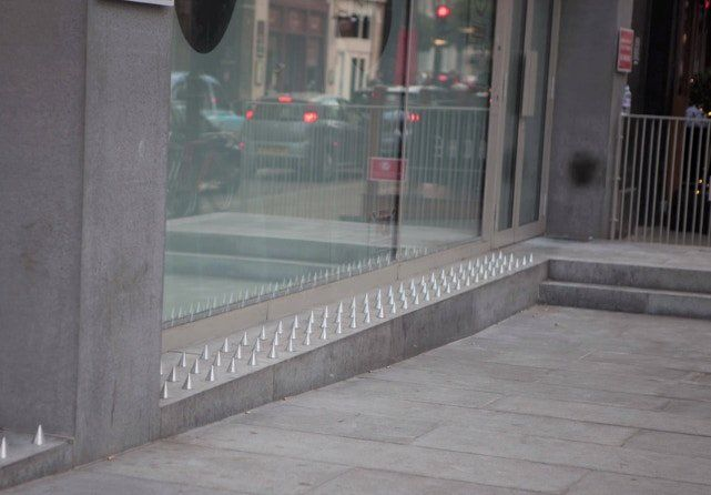 Artists got fed up with these 'anti-homeless spikes.' So they made them a bit more ... comfy. - Upworthy